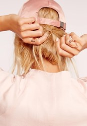 Missguided Minimal Ring Pack Rose Gold Red