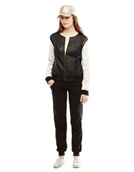 Kenneth Cole Sporty Perforated Bomber Jacket Black