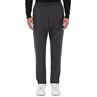 Givenchy Men's Wool Blend Flannel Jogger Trousers Dark Grey