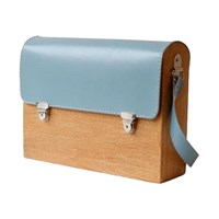 Grav Grav Colorful Wooden Satchel Bag Blue