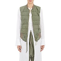 Greg Lauren Women's Bomber Studio Vest Green