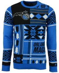 Forever Collectibles Men's Orlando Magic Patches Christmas Sweater Blue Black
