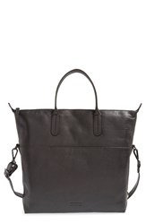 Men's Ben Minkoff 'Viktor' Leather Tote Black