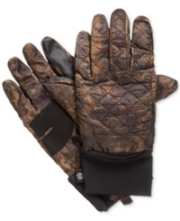Isotoner Signature Men's Quilted Gloves Brown