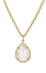 Irene Neuwirth Women's Moonstone Pendant Necklace No Color