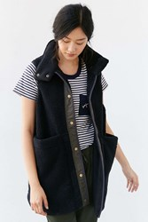 Without Walls Long Sherpa Vest Black