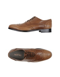 Alexander Hotto Lace Up Shoes Camel