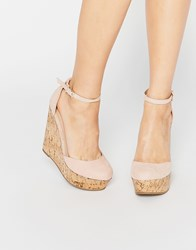 Asos Oval Wedges Nude Beige