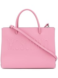 Moschino Logo Tote Pink And Purple