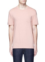 Topman Chest Pocket Jersey T Shirt Pink