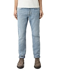 Allsaints Fellow Pistol Slim Fit Jeans In Mid Indigo Blue