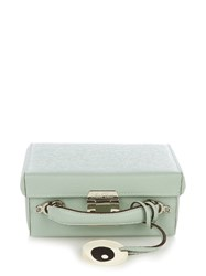 Mark Cross Grace Small Grained Leather Box Bag Light Green