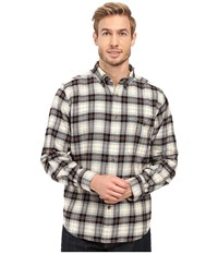 Woolrich Trout Run Flannel Shirt Black Plaid Men's Long Sleeve Button Up