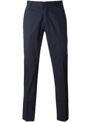 Woolrich Slim Chino Trousers Blue