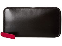 Marni Bicolor Calf Leather Card Wallet Black Red Wallet Handbags