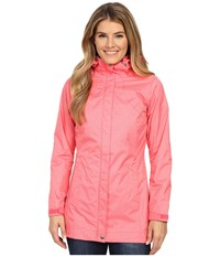 Columbia Splash A Little Rain Jacket Bright Geranium Lace Print Women's Coat Pink