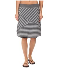Exofficio Wanderlux Stripe Reversible Skirt Charcoal Heather Women's Skirt Gray