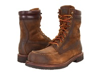 Frye Dakota Crepe Tall Fatigue Waxed Suede Men's Lace Up Boots Brown