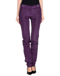 Mp Massimo Piombo Trousers Casual Trousers Women Purple