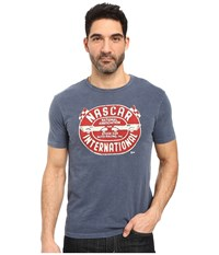 Lucky Brand Nascar International Graphic Tee American Navy Men's T Shirt