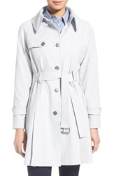 Women's Trina Turk 'Lilian' Pleated Single Breasted Trench Coat Silver