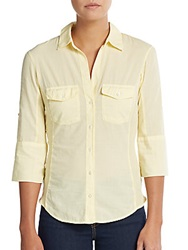 James Perse Rolled Sleeve Button Front Shirt Oz