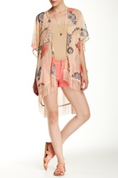 Daniel Rainn Fringe Bed Jacket Orange