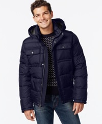 Tommy Hilfiger Big And Tall Hooded Puffer Jacket Midnight Navy