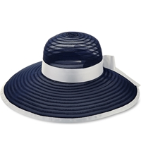 Armani Collezioni Floppy Ladies Hat Blue