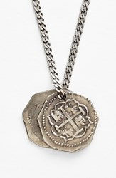Men's Miansai Treasure Coin Pendant Silver Necklace