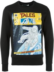 Love Moschino 'Tales From Love' Printed Sweatshirt Black