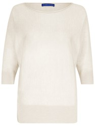Winser London Cashmere Blend Dolman Sleeve Jumper Ivory