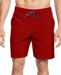 Tommy Hilfiger Men's Swim Trunks Apple Red