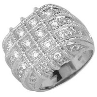 Torrini Wallstreet 18K White Gold Diamond Ring