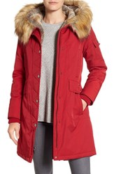1 Madison Women's Hooded Parka With Faux Fur Trim