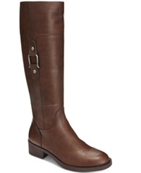 Styleandco. Style Co. Astarie Wide Calf Riding Boots Only At Macy's Women's Shoes Brown