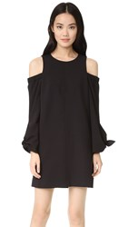 Tibi Cold Shoulder Dress Black