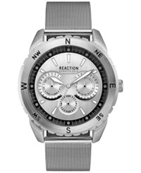 Kenneth Cole Reaction New York Men's Stainless Steel Mesh Bracelet Watch 46X53mm 10030937 Silver
