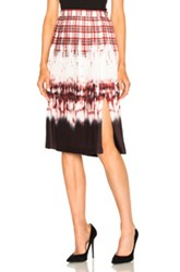 Altuzarra Lucile Skirt In Red Checkered And Plaid Ombre And Tie Dye Red Checkered And Plaid Ombre And Tie Dye