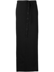 Knomadik By Daniel Patrick 'Roaming' Drawstring Maxi Skirt Black