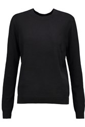 Opening Ceremony Cutout Cotton Sweater Black