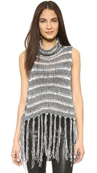 Free People Folksong Fringe Top Midnight Combo