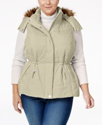 American Rag Trendy Plus Size Faux Fur Trim Puffer Vest Only At Macy's Cinder
