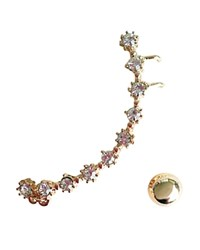 Cara Accessories Ear Cuff And Stud Earrings Compare At 30 Gold Crystal