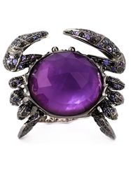 Stephen Webster 'Crab Crystal Haze' Ring Metallic
