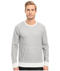 Agave Bagby Long Sleeve French Terry Heather Grey Men's Long Sleeve Pullover Gray