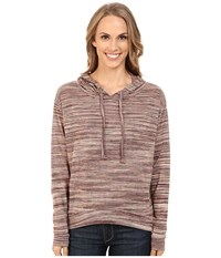 Roper 0156 Marbled Sweater Jersey Hooded Top Brown Women's Sweater