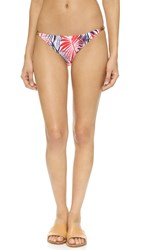 Milly Palm Print Positano Bikini Bottoms White Multi