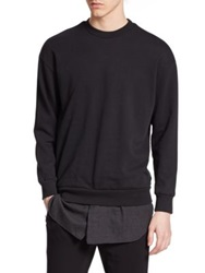 3.1 Phillip Lim Cotton Shirttail Sweatshirt Black