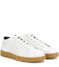Loewe Leather Sneakers White